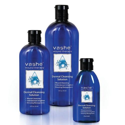 Vashe Wound Therapy Dermal Cleansing Solution - Wound Cleanser & Wash