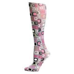 Grey Dot Art Fashion Line Compression Socks
