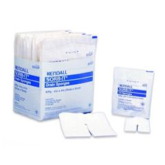 "SORB-IT Drain and I.V. Sponges - 6-Ply 4 x 4"" Sterile 2's in Peel Back Pkg"