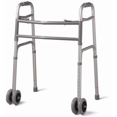 "Medline Deluxe Bariatric Walker with Dual 5"" Wheels"