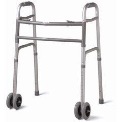"Medline Deluxe Bariatric Walker with Dual 5"" Wheels"