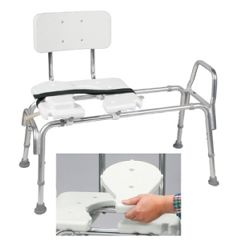 DMI Heavy-Duty Sliding Tub & Shower Transfer Bench with Cut-Out Seat