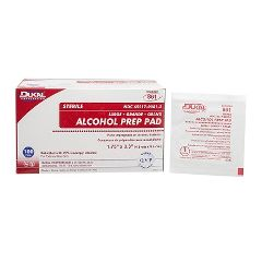 Dukal Sterile Alcohol Prep Pads Large