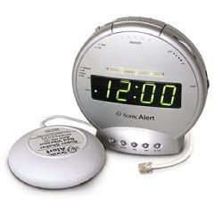 Sonic Alert Sonic Boom Alarm Clock (SBT425ss) w/ Telephone Signaler & Bed Shaker