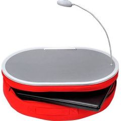 Deluxe Comfort Lamp Desk With Lap - Red