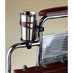 Sammons Preston Wheelchair Beverage Holder - Brown - Fits desk arm wheelchair