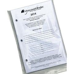 Massage Minder Mini Appointment Book Dated 3-Ring Refill