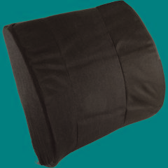 """Roscoe Medical Seat Cushion With Strap - 13"""" x 14"""", Black"""