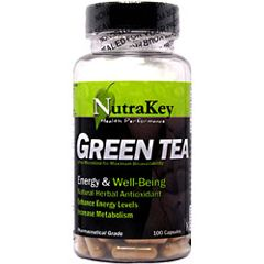 Nutrakey Green Tea Extract Herbs Supplement 100 Capsules