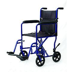 Mabis DMI 19 Inch Ultra Lightweight Aluminum Transport Chair