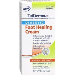 TriDerma Diabetic Foot Healing Cream - 2.2 oz tube
