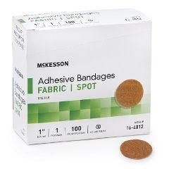 McKesson Adhesive Spot Bandage, Beige 1-inch diameter