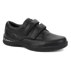 Oasis Footwear Oasis Men's  Nevis Hook & Loop Black Diabetic Shoe