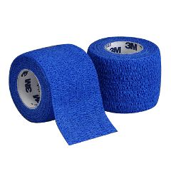 "Coban 3M Coban Self-Adherent Wrap - Blue, 4"" x 5 yd"