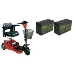 Drive Phantom 3-Wheel Scooter Replacement Batteries