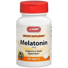 Cardinal Health Leader Melatonin Vitamin Tablets