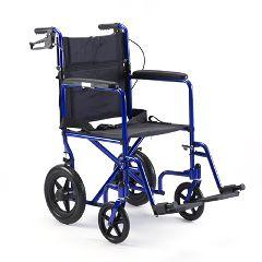 """Invacare Lightweight Aluminum Transport Chair (19""""x16"""") BLUE"""