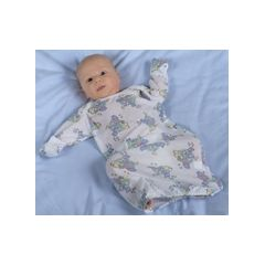 Slipover Infant Gown with Mitten Cuffs