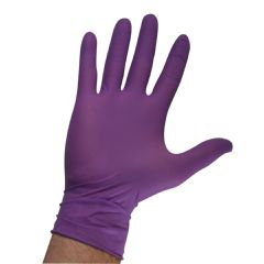 Nonsterile KC 500 Purple Nitrile Exam Gloves - Textured, Powder Free