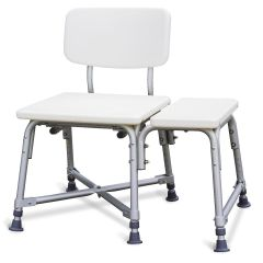 Medline Non-Padded Bariatric Transfer Bench