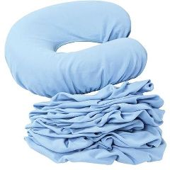 bodyCushion Face Rest Covers, Set Of 8 Regular, Light Blue