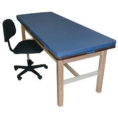 "Bailey Manufacturing Classroom H-Brace Treatment Table with Removable 2"" Mat"