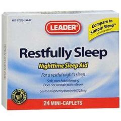 Cardinal Health Leader Restfully Sleep Tablets 24 Count