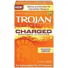 Trojan Condoms Trojan Intensified Charged Orgasmic Pleasure Condoms