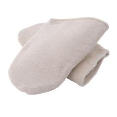 Universal Massage Products Insulated Terry Mitt White, 1 Pair