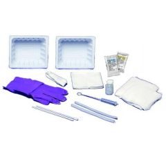 Kendall Standard Trach Care Tray with Sterile Saline