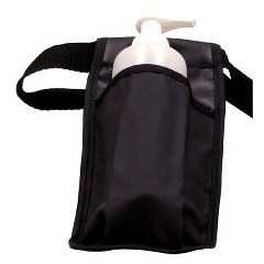 ScripHessco Washable Massage Bottle Holster Single - Black W/ Bottle and Pump