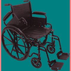 ProBasics Economy K1 Wheelchair with Footrests