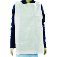 Disposable Paper-Poly Lap Bib 16X33 Overhead Style