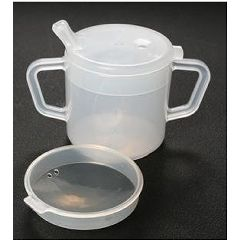 AliMed Mugs with Lids Two-Handled Mug w/Lid, 8oz