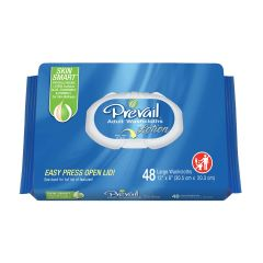 "Prevail®  Adult Disposable Washcloth -  Softpack Press-N-Pull Lid - 12"" x 8"""