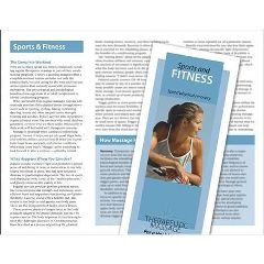 Jji Web Solutions Massage For Sports & Fitness Brochure 50 Pack