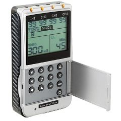TENS Digital 4-Channel Ems/Tens Unit, Portable/Battery Or Ac Adapter, Complete
