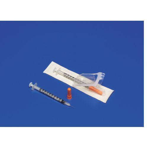 """MONOJECT SoftPack .5 cc/ml Insulin Syringe w/ 28g x 1/2"""" Needle"""