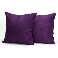 "AB Marketers LLC Microsuede Deco Pillow Set of Two 18"" x 18"""