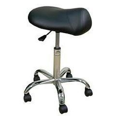 "Oakworks Professional Saddle Stool 19""-25""H"