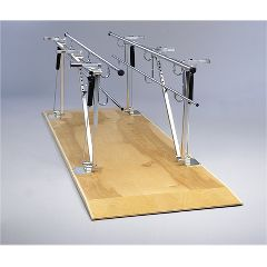 Bailey Manufacturing Parallel Bars, Wood Platform Mounted, Height And Width Adjustable, 10 Floor Long