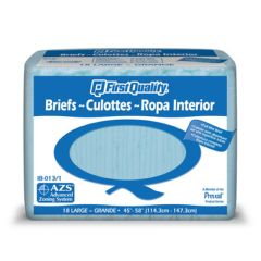 """First Quality Full Mat Adult Briefs - Large - 45""""-58"""", Blue"""