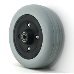 "New Solutions 6"" x 2"" Caster Wheels With Urethane Tires and 5/8 & 7/16 Bearings Pair"