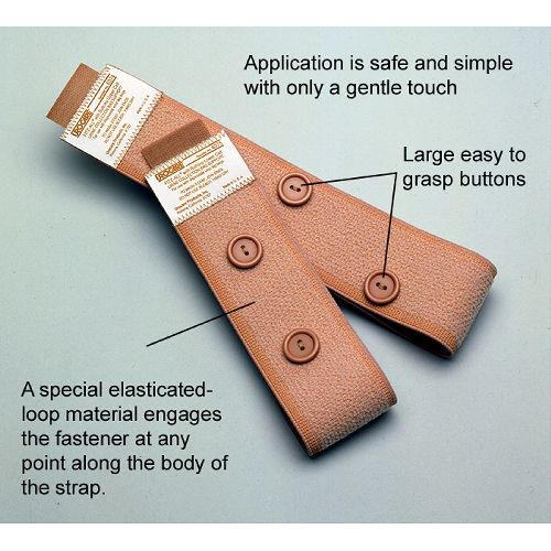 Fitz-All Leg Strap with Buttons for Catheter & Urinary Leg Bags Model 238 5004