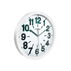 Reizen Low Vision Quartz Wall Clock - White face, Black Numbers