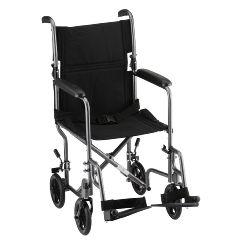 Nova 19 inch Steel Transport Chair in Hammertone