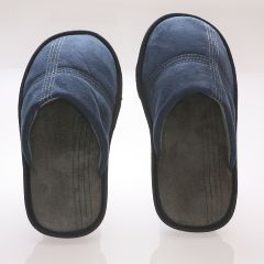 AB Marketers LLC Men's Suede Fleece Lined Slipper