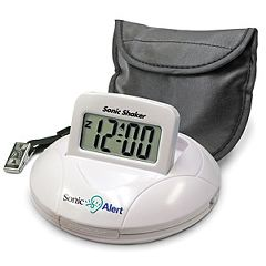 Sonic Shaker SBP100 - Portable Vibrating Travel Alarm Clock