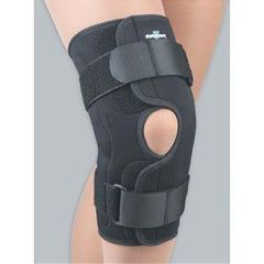 FLA Orthopedics Neoprene Wraparound Hinged Knee Brace Black