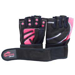 Spinto Men's Workout Glove w/ Wrist Wraps - Red/Gray (XL)